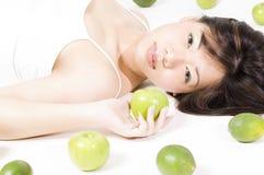 owoce 3 dziewczyna Zdjęcia Stock