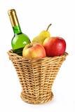 owoce butelek wina Zdjęcie Royalty Free