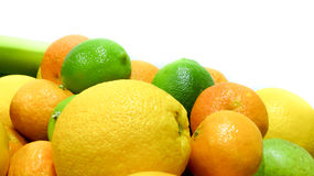 owoce cytrusowe cytryn lime pomarańcze Fotografia Stock