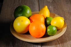 owoce cytrusowe cytryn lime pomarańcze Obraz Stock