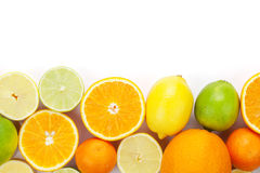 owoce cytrusowe cytryn lime pomarańcze Pomarańcze, wapno i cytryny, Obraz Royalty Free