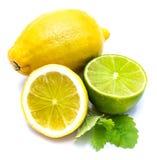 owoce cytrusowe w izolacji white Obrazy Stock