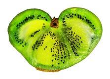 owoce kiwi pojedynczy white kiwi owoc w postaci serca Zdjęcia Royalty Free