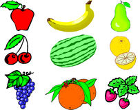 owoce kolaż Zdjęcia Stock