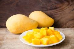 owoce mango pokroić Fotografia Royalty Free