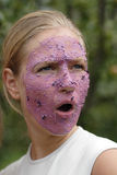 owoce maskowe kobiety Fotografia Stock