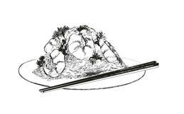 Owoce morza. Garnele. Fotografia Stock