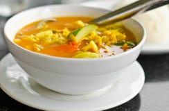 Owoce morza i jarzynowy curry. Obraz Stock