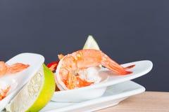 Owoce morza koktajlu krewetka w korzennym owoce morza upadzie Fotografia Royalty Free