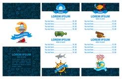 Owoce morza menu Obrazy Stock