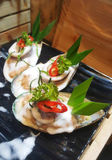 Owoce morza mieszanki półmiska zakończenie up, owoce morza bufet, owoce morza je restaurację Zdjęcie Royalty Free