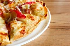 Owoce morza pizza, odgórny widok Zdjęcia Stock