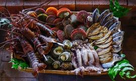 Owoce morza przy tradycyjną restauracją Zdjęcie Royalty Free