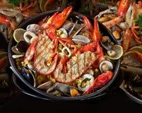 Owoce morza. Przygotowani Shellfish. Śródziemnomorski. Zdjęcie Royalty Free