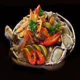 Owoce morza. Przygotowani Shellfish. Śródziemnomorski. Fotografia Stock