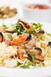 Owoce morza risotto Obraz Stock