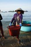 Owoce morza rynek na plaży Zdjęcia Stock