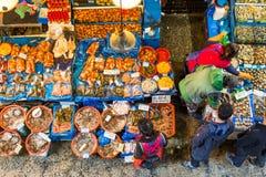 Owoce morza rynek w Seul Obrazy Stock