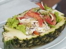 owoce morza sałatkowy ananasowy obrazy royalty free