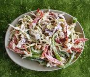 Owoce morza sałatka z Mayo i warzywami Zdjęcia Royalty Free
