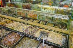 Owoce morza sklep w Sai Kung, Hong Kong fotografia royalty free