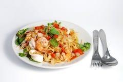 owoce morza spaghetti Obraz Stock