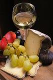 owoce serowy wina Obrazy Royalty Free