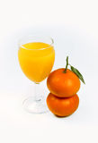 owoce soku dwa mandarynka Zdjęcie Stock