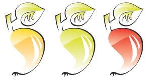 owoce stylizowany vec jabłko Zdjęcie Stock