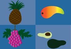 owoce 2 tropikalnej Obraz Stock