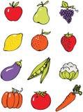 owoce, warzywa Obrazy Royalty Free