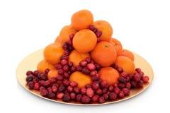 owocowa cranberry mandarynka Zdjęcia Stock