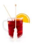 owocowa czerwona herbata fotografia stock