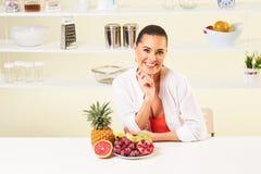 Owocowa gronowa łasowanie przekąski zdrowie zdrowej diety lunchu ciężaru strata Zdjęcia Royalty Free