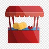 Owocowa kiosk ikona, kreskówka styl royalty ilustracja