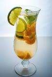 Owocowa lemoniada w huraganie z pomarańcze wapnem i mennicą Zdjęcie Stock