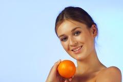 owocowa pomarańczowa kobieta Obrazy Royalty Free