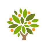 Owocowa zdrowia drzewa ikona Zdjęcia Royalty Free