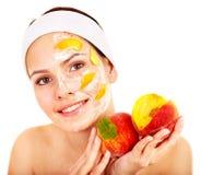 owocowe facial maski zdjęcia royalty free