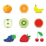 owocowe ikony ilustracja wektor