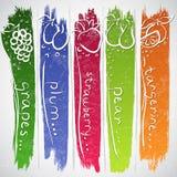 Owocowe ikony Obraz Royalty Free