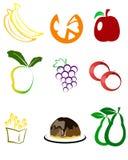 Owocowe ikony Zdjęcie Stock