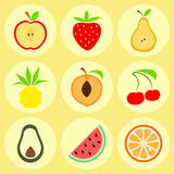 Owocowe ikony Obrazy Stock