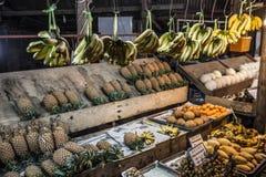 Owocowego rynku stojak Obrazy Royalty Free