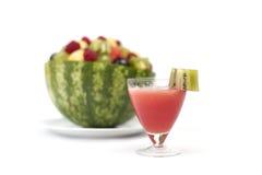 owocowego soku sałatki arbuz Fotografia Royalty Free