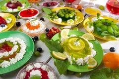 owocowej galarety rodzaje różnorodni Zdjęcia Royalty Free