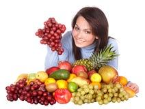owocowi dziewczyny grupy warzywa Zdjęcie Royalty Free