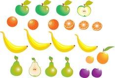 Owocowi jabłka i pomarańcze Zdjęcia Stock