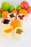 owocowi jogurty Obrazy Royalty Free