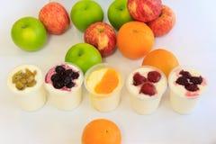 owocowi jogurty Zdjęcie Royalty Free